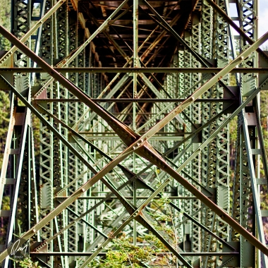 Under the bridge at Deception Pass