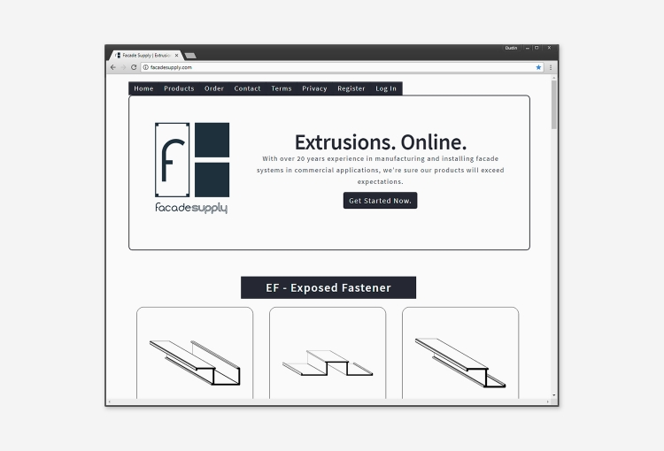 Facade Supply Homepage Full